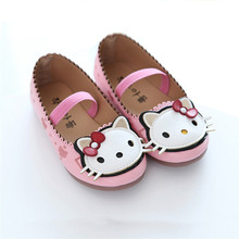 cute  baby girl causal shoes lovely hello kitty style princess shoes for 1-11yrs girls elegant kids children party dance shoes