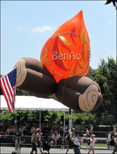 AO35 4mPVC inflatable balloon sky helium balloon/airplane for advertising events/giant flying advertising firewood with you logo