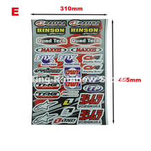 New Mixed Motorcycle ATV Decal Sticker ATV Dirt Bike Cars Trucks And Boats