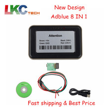 5pcs/lot DHL Free 100% working 8 in 1 adblue 8in1 Emulation with programmer /Truck Remove for multi-cars AD Blue 8IN1