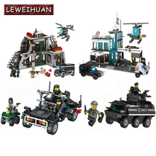 LEWEIHUAN Armored Vehicles Blocks Bricks Compatible Legoe Building Block Sets Models Educational Toys For Childre Christmas gift(China)