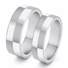 Special Offer Hot Sell Couple Ring Accessory 316L Titanium steel Silver Color Woman Man Jewelry Wholesale USA size Free Shipping