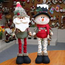 1PC Kids Gift Christmas Snowman Doll Santa Claus Doll Natural velvet Christmas Ornaments Decoration Present 3(China)