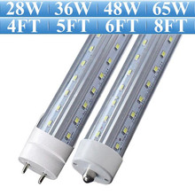 4FT 5FT 6FT 8FT V-Shaped LED T8 T10 T12 Tube Light Super Bright CREE SMD2835 LED Fluorescent Lamp AC 85-265V 110V 220V(China)