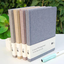Journal Diary Lined A5 Cloth Cover Blank Inside Pocket School Study Notebook Memo Notepad Business style Notebook