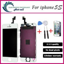A++++ No Dead Pixel For iPhone 5 5S 5C 5SE LCD Display touch Screen Digitizer Assembly Black&White Free shipping