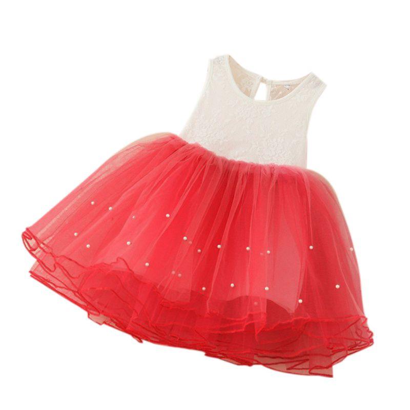 Kids Girls Tulle Party Sleeveless Tutu Dress Wedding Party Pegeant Dress 2-9Y<br><br>Aliexpress