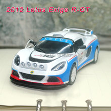 (5pcs/pack) Wholesale Brand New 1/32 Scale Pull Back Car Toys 2012 Lotus Exige R-GT #16 Racing Car Diecast Metal Model Toy