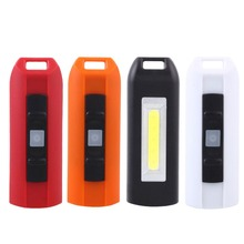 4-Color Mini USB LED Keychain COB Light Pocket Flashlight Torch Emergency Portable Drop Shipping(China)