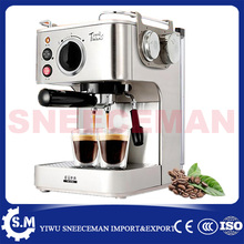 professional semi- automatic household coffee making machines stainless steel steam coffee pot milk coffee machine(China)
