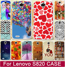 Free Shipping Love You Moon Ballon Beer Anchor Leaf Princess PC Mobile Phone Cases For Lenovo S820 820 Case Cover Shell Capa