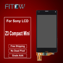 Fitow Brand 100% New LCD For Sony Xperia Z3 Compact Z3 Mini LCD Display Touch Screen with Digitizer Assembly Free Shipping(China)