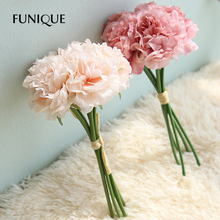 FUNIQUE 5pcs Peony Bouquet For Wedding Mariage Party Decorations DIY Crafts Handmade Artificial Flowers Garland Drop Shipping(China)