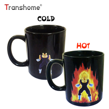Transhome Creative Color Changing Mug 300ml Dragon Ball Z Vegeta Heat Sensitive Ceramic Temperature Sensing Rtic Milk Coffee Mug(China)