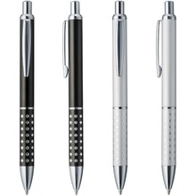 Cheap new Aluminium metal ball pen,black ink refill,smooth writing,company logo customized promotional gift,personalized event(China)
