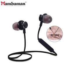 Buy Mambaman BT06 Metal Sports Bluetooth Headphone SweatProof Earphone Magnetic Earpiece Stereo Wireless Headset Mobile Phone for $8.58 in AliExpress store
