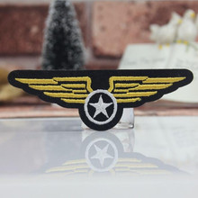 DOUBLEHEE221 The Army Wings 9.9cm*3.1cm Patches Embroidered Iron On Patch For Clothing Sticker Badge Paste For Clothes Bag Pants(China)