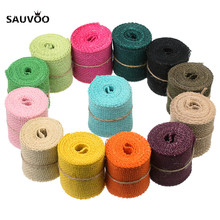 Sauvoo 2 Yard/roll 11 Colors Wide 6cm Weave Jute Hemp Ropes Cords Threads for DIY Bracelet Necklace Jewelry Making Findings(China)