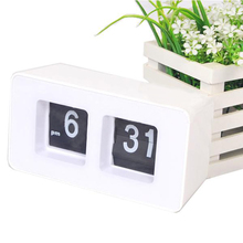 NHBR  Flip Clock Cube Desk Table Wall Kitchen Simple Modern Design