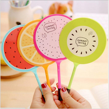 Creative Summer fresh fruits Badminton style Ballpoint Pen 0.4mm blue ink School Stationery Office Supply Kid gift
