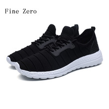 Fine Zero Mens Plus Size 46 Outdoor Athletic Sport Sneakers Spring And Summer Plus size 46 Mesh Upper Lace Up Light Running Shoe