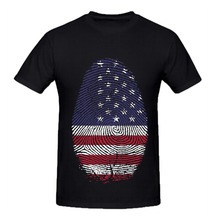 RTTMALL Fashion 2017 Summer Flag Undershirt for men New Hot Topic O Neck America Fingerprint Male Love Counrty Tees Casual homme(China)