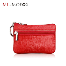 Hot sale Women Genuine leather Coin Wallets Women Zipper Coin Bags Children Storage Pocket Female Purses Pouch MIUMOFOX MDN-060A