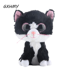 GXHMY Ty Beanie Boos Little Black Cat Plush Toy Doll Stuffed Animals & Plush