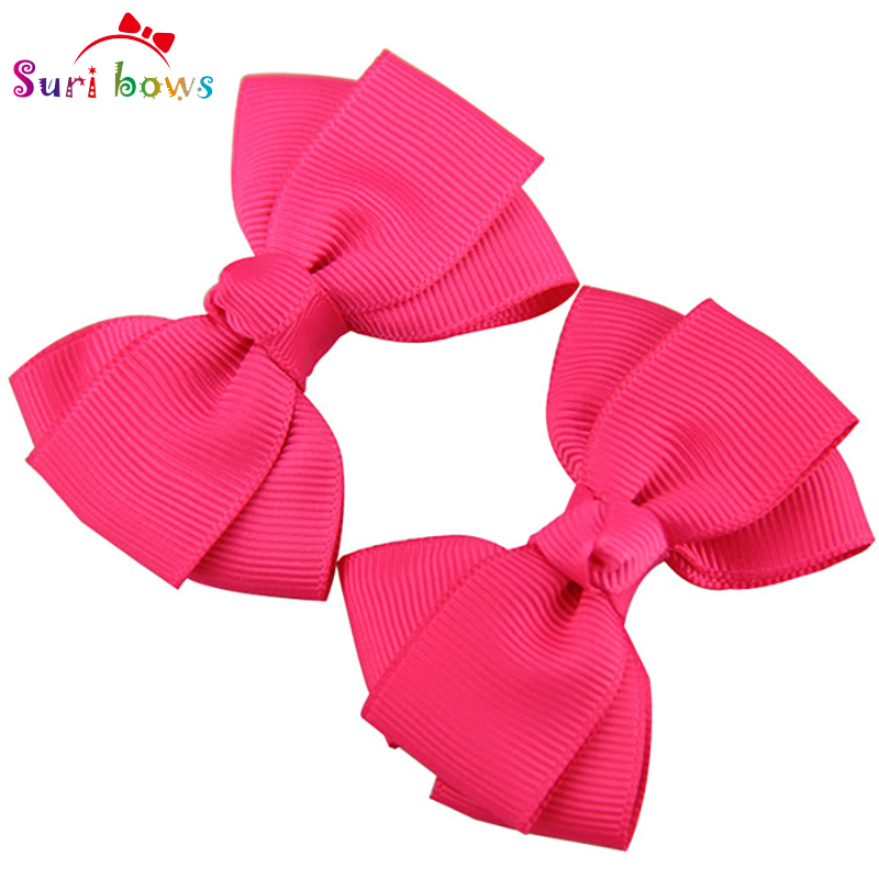 1 Pair Bowknot Hair Clips For Baby Girls Toddler Children Polyester Grosgrain Ribbon Floral Children Headpins FS016<br><br>Aliexpress