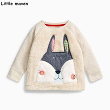 Buy Little maven baby girls clothes 2017 autumn new children cotton long sleeve embroidered fox thick t shirt girl tops C0038 for $8.57 in AliExpress store