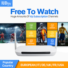 Europe Arabic IP TV Box Smart Android Germany Italia 2000 Channels IUDTV Code IPTV Subscription Europe Arabic French Set-top Box