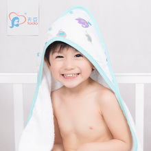 aden anais Baby Hooded Bath Towel Soft material 100% Bamboo Cotton Kids Bath Towels Children Hand towel Newborn Beach Towel(China)