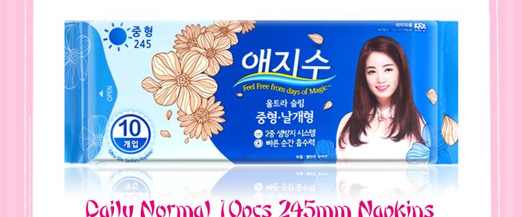 Korea 6pcs AEJISU organic cotton heavy flow over Night Sanitary Napkins pad 3mm feminine hygiene products menstrual towel pads 34