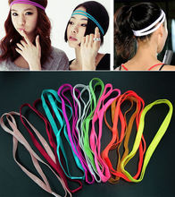 Fantastic 10 Colors Double Sports Elastic Headband Yoga Anti-Slip Hairband Head Hair Bands Accessories(China)