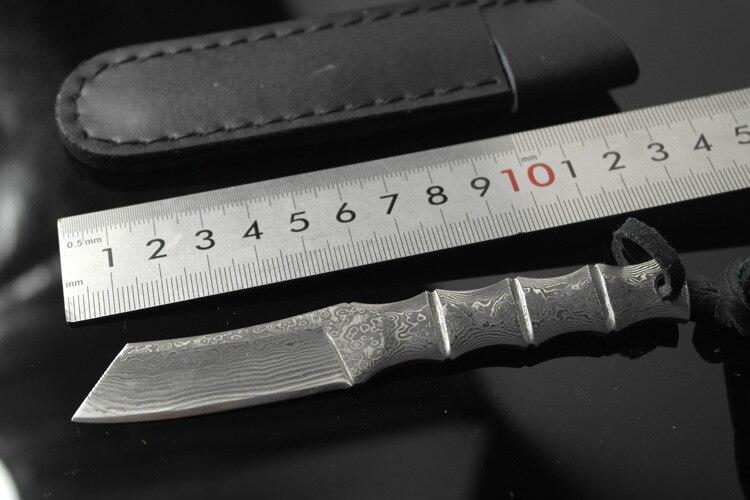 Luxury Handmade Damascus Bamboo Scollection Knife Tea Needle 59HRC Hardness<br><br>Aliexpress