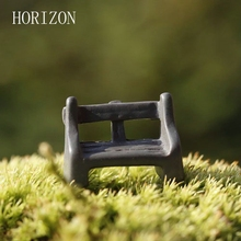5Pcs/Set Park Benches Miniature Resin Crafts Fairy Garden Miniatures Accessories For Doll House Courtyard Decoration