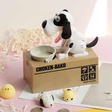 1 Piece Robotic Dog Banco Canino Money Box Funny Toy Automatic StoleMoney box Fun puppy Gifts for kid Christmas birthday(China)