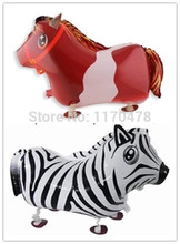 New design 10 pc 65x43cm zebra pet balloon ,Walking horse animal balloons,walking pet ballons decoration birthday