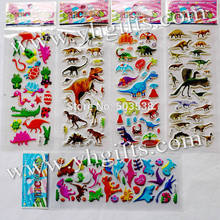 30sheets(720PCS stickers) /LOT.PVC removable jurassic dinosaur stickers,Birthday gifts,Scrapbooking kit,Promotional gifts.Retail(China)