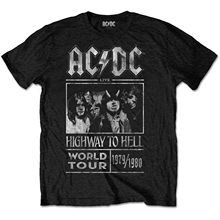 ACDC Highway to Hell World Tour 79-80 Rock Official Tee Футболка Мужская Унисекс новейшая 2019 Мужская Футболка Модный Топ Футболка(China)