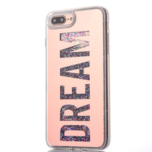 For iPhone 6 6Plus 7 7Plus Glitter Quicksand Case Diamond Dream LOVE Girl Sparkle Glitter Star Flowing Liquid Cover Phone Case(China)