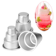 High quality 3 Layers Tower Shaped Cake Pudding Mold Muffin Decorating Mould Tools Dropship(China)