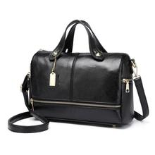 Boston Genuine leather bags ladies real leather bags women famous brands designer handbags high quality tote bag for women