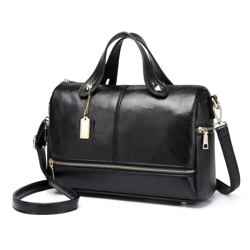 Boston Genuine leather bags ladies real leather bags women famous brands designer handbags high quality tote bag for women<br>