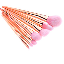 Hot Selling Soft 7pcs/lot Fiber Makeup Brush Set Foundation Powde Face Contour Eyeshadow Makeup Brushes Beauty Cosmetic Tool Kit(China)
