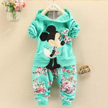 BibiCola  Spring Autumn baby girls christmas outfits Sport suit clothing set hoodies pants kids minnie mouse clothes sets