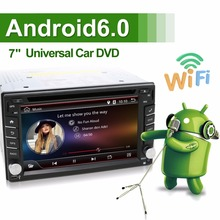 Universal 2 din Android 6.0 Car DVD Player GPS+Wifi+Bluetooth+Radio+Quad 4 Core CPU+DDR3+Capacitive Touch Screen+3G+Car PC+Audio(China)