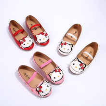 J Ghee 2016 Summer Autumn Baby Girl Shoes Princess Kids Shoes Hello Kitty Sweet Children Single Shoes For Girls Casual Sneakers