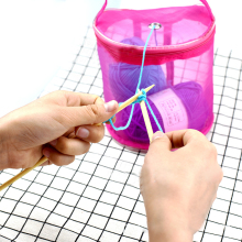 Mesh Sewing Kit Bag DIY Hand Weaving Tools Organizer Hollow DIY Hand Weaving Yarn Bag Crochet Thread Storage Mesh Holder