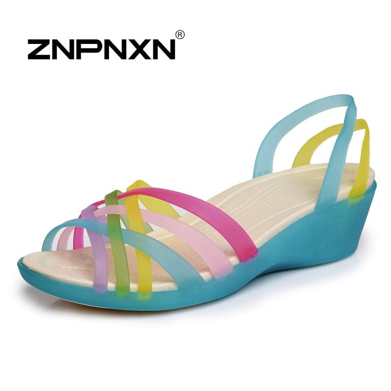 Fashion 2017 Gladiator Womens Sandals Women Slides Summer Shoes Flats Platform Sandals Wedges Woman Jelly Shoes<br><br>Aliexpress